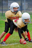 Youth American Football Scrimmage Line Stock Photography