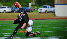 Youth American Football the tackle Stock Photos