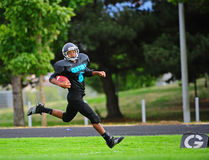 Youth American Football touch down Stock Photo