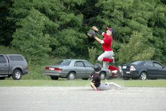 Youth Baseball Action Stock Image