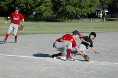 Youth Baseball Action Stock Photography