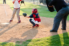 Youth baseball catcher Stock Photos