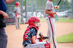 Youth baseball catcher Royalty Free Stock Image