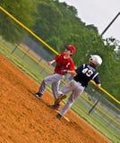 Youth Baseball Making Run to Base stock image
