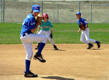 Youth Baseball Pitcher Stock Images