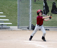 Youth baseball player at bat Royalty Free Stock Images