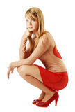 A youth blonde in transparent Stock Image