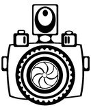 Youth camera isolated on white Royalty Free Stock Images