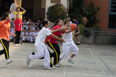Youth chairball match, in elementary schools. Royalty Free Stock Photography