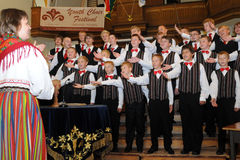 Youth choir festival Royalty Free Stock Images