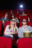 Youth at cinema Royalty Free Stock Photos