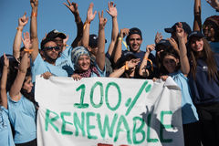 Youth climate activists protest Stock Photo