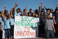 Youth climate activists protest Stock Image