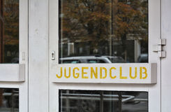 Youth club in Berlin Stock Image