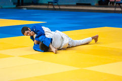 Youth competitions in Judo. Orenburg, Russia - 30 October 2015: Youth competitions in Judo Royalty Free Stock Image
