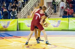 Youth competitions on sporting wrestling Royalty Free Stock Image