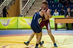 Youth competitions on sporting wrestling Stock Photography