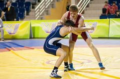 Youth competitions on sporting wrestling Stock Image