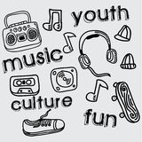 Youth culture design Stock Images