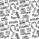 Youth culture. Design over white background vector illustration Stock Photography