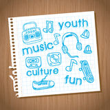 Youth culture. Design over wooden background vector illustration Royalty Free Stock Image