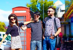 Youth culture relation, friends on the street Royalty Free Stock Image