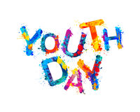 Youth day. Splash paint Stock Images