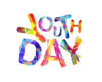 Youth day. Triangular letters Stock Photography