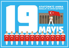 Youth day Turkey banner. Stock Images