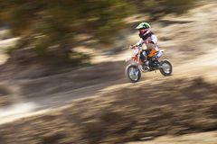 Youth Dirt Bike Racer Royalty Free Stock Photo