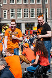 Youth enjoying party - Koninginnedag 2012 royalty free stock photography
