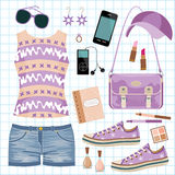 Youth fashionable set Stock Image