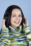 Youth female enjoy music Stock Images
