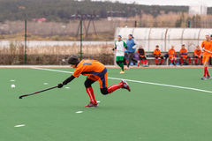 Youth field hockey competition Royalty Free Stock Image
