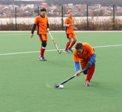 Youth field hockey competition Royalty Free Stock Images