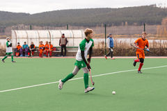 Youth field hockey competition Stock Images
