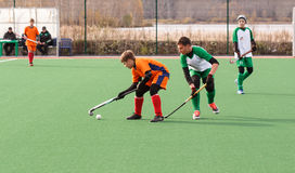 Youth field hockey competition Royalty Free Stock Photography