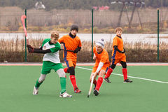 Youth field hockey competition Stock Image
