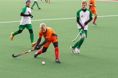 Youth field hockey competition Royalty Free Stock Photos