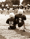 Youth football. On a football field Stock Photo