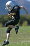 Youth football in the end zone Royalty Free Stock Image