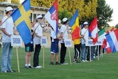 Youth Football Festival Kaposvar Royalty Free Stock Photo