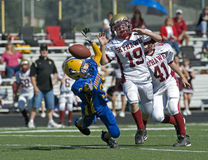 Youth football fumble 1 Royalty Free Stock Photos