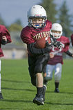Youth Football Run To The Endzone Stock Photos