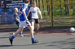 Youth football yard Stock Photo