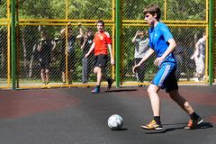 Youth football yard Royalty Free Stock Photo