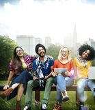 Youth Friends Friendship Technology Together Concept Stock Images