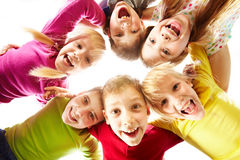 Youth and fun. Image of happy kids representing youth and fun Stock Photography