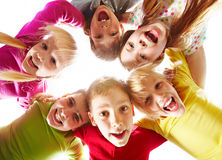 Youth and fun. Image of happy kids representing youth and fun Stock Photo