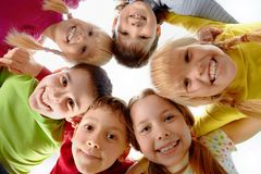 Youth and fun. Image of happy kids representing youth and fun Royalty Free Stock Photography